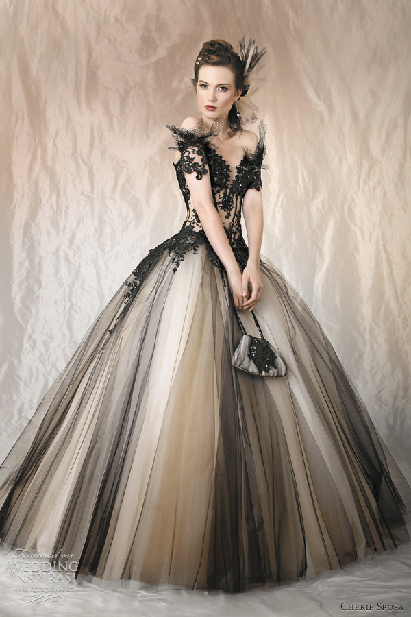 black wedding dress |
